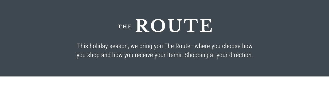 The Route - Shop Now