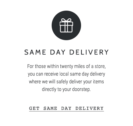 The Route - Get Same Day Delivery