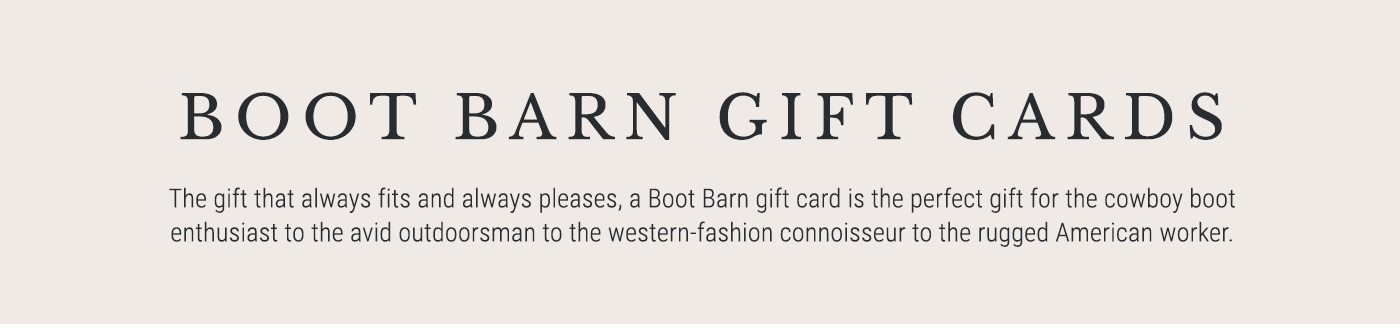 Boot Barn Gift Cards - Shop Now