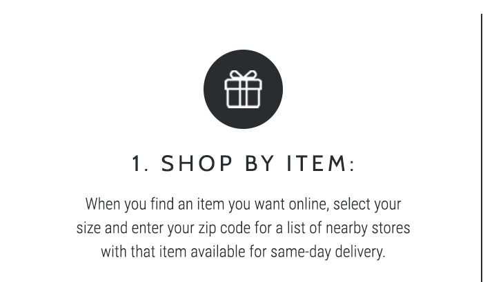 Same Day Delivery - Shop Now