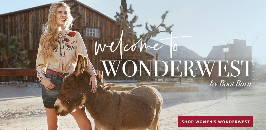 WELCOME TO WONDERWEST BY BOOT BARN  - Shop Women's Wonderwest »